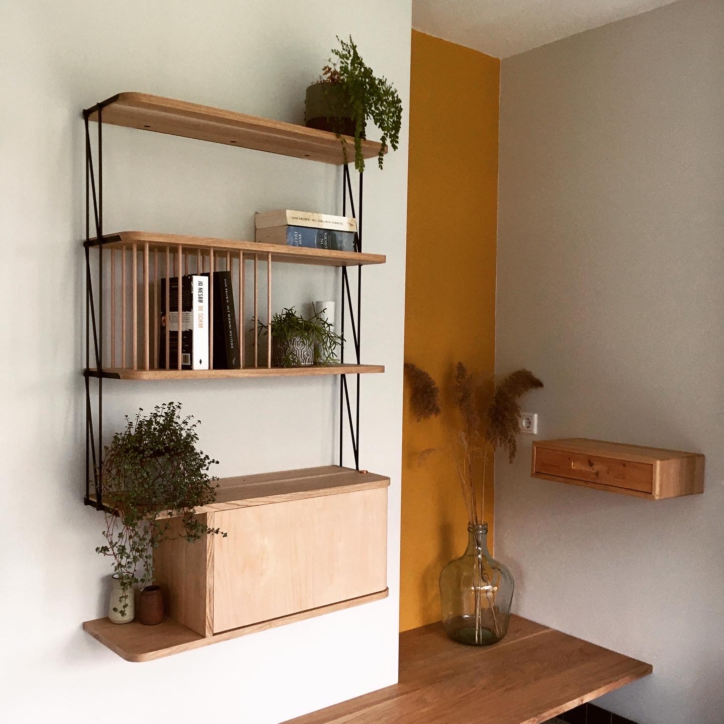 Hanging Shelves And Cabinet